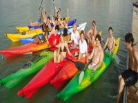 Friends ready to visit Seville by Kayak