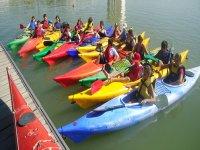 Listos para nuestra ruta de kayak