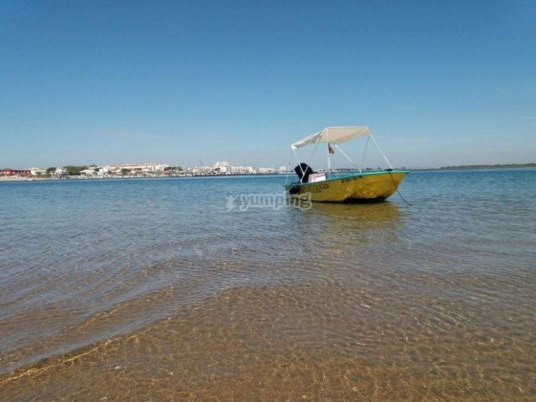 在拉卢斯海岸的水域