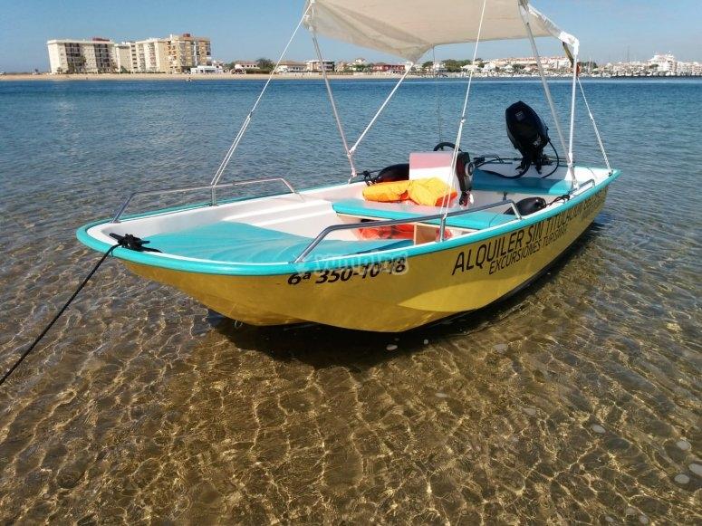 在韦尔瓦(Huelva)没有船长的船只租赁