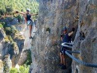 Via Ferrata Las Hoces de Priego and climbing