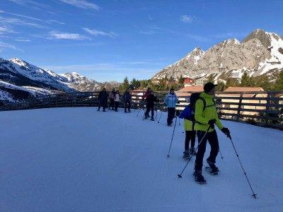 Ruta raquetas de nieve nivel fácil en Aller 2horas