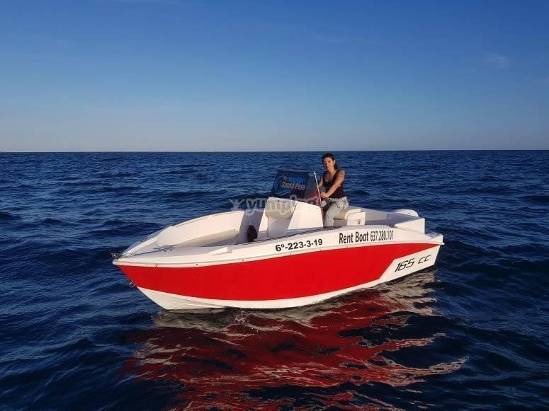 Boat rental without a Santa Pola license