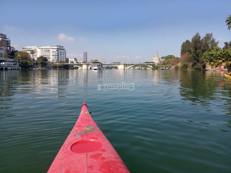 Salida en kayak Guadalquivir en solitario