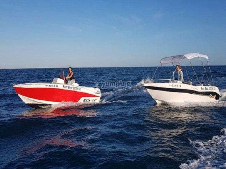 Manejando la barca