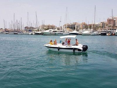 Alquiler barco Voraz sin carné Santa Pola 4 horas