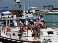 Excursión en barco para team building