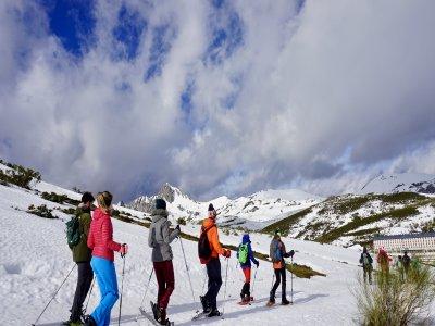 Ruta raquetas de nieve nivel medio Aller 3 horas