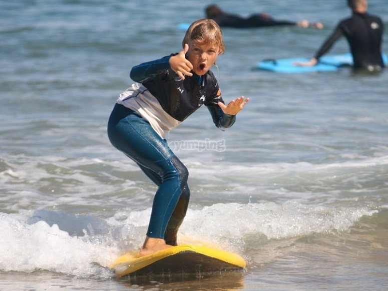 Happy about the surfboard