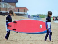 The little ones with the board