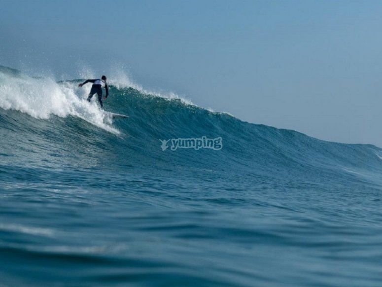 Surfing in the Cantabrian