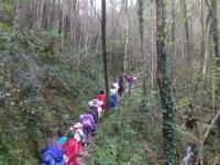 在Sastarrain山谷徒步旅行