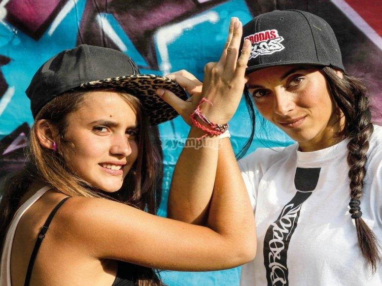 Con Brodas Bros aprendiendo hip hop