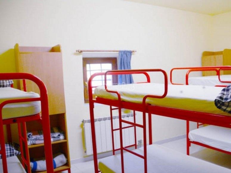 Casa de colonias Can Vandrell habitaciones