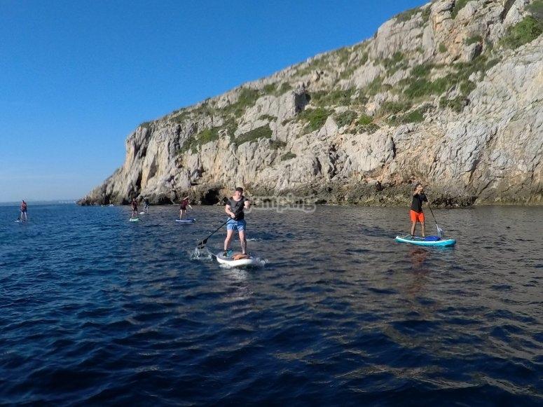Tour SUP por acantilados Mallorca