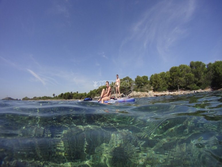 Ruta guiada de paddle surf