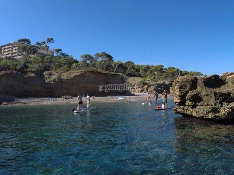 Recorriendo acantilados de Mallorca