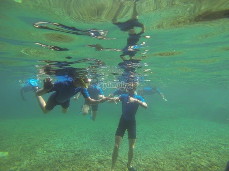 马洛卡北部海岸浮潜活动