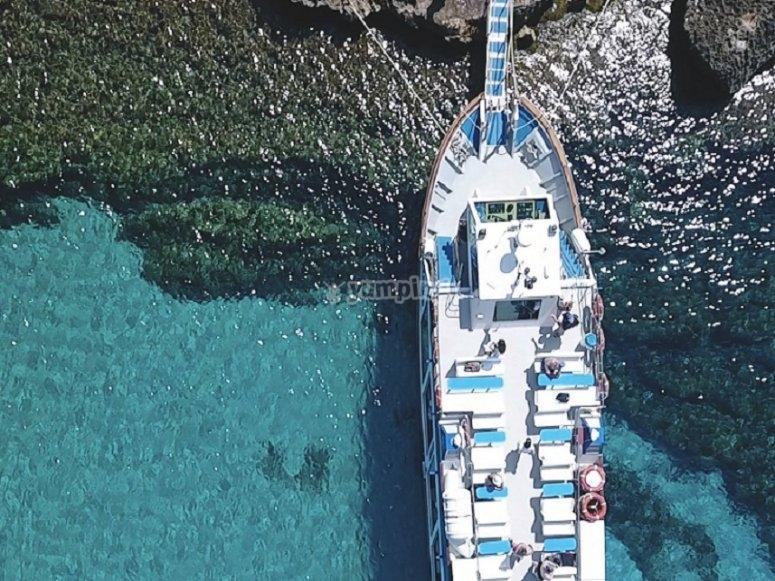 Nuestro barco en Menorca