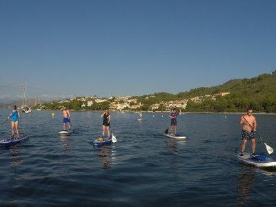 Tour paddle surf Puerto de Alcudia 1,5 h niños