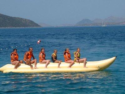 Sessione di banana boat a Gijón 15 minuti