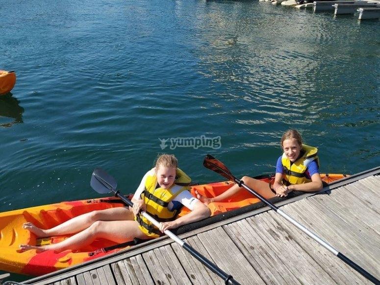 Inside the kayak
