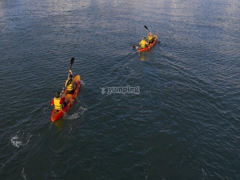 Kayak trip in Gijón