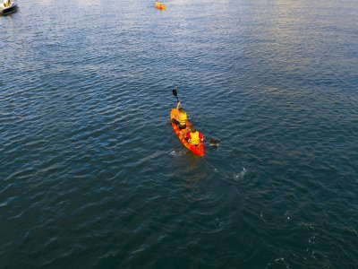 Guided kayak route through Gijón 1 hour