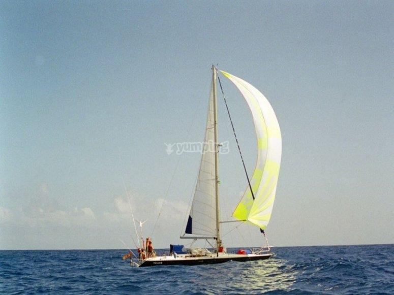 坎塔布连海的小船