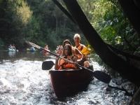 Salida familiar en canoa