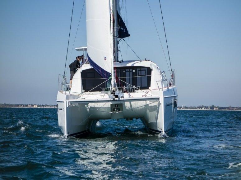 A bordo de la embarcación