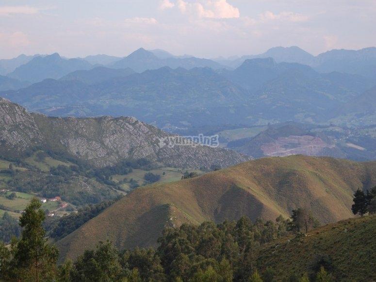 Landscape of Arriondas