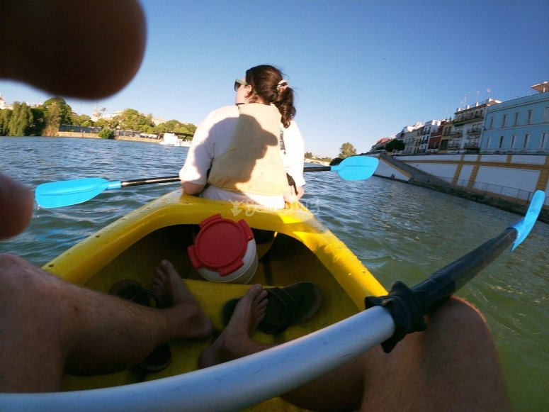 Tour by two-seater kayak Guadalquivir