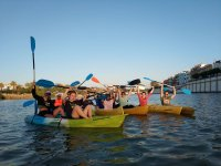 Departure by kayak on the Guadalquivir