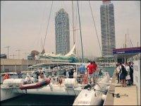 我们巴塞罗那港口的船