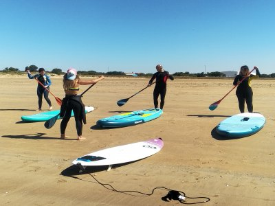 Curso privado de paddle surf en Rota 90 minutos