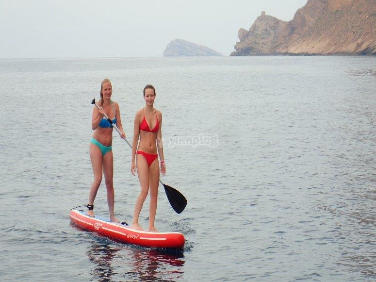 在塞拉赫拉达(Serra Helada)练习划桨