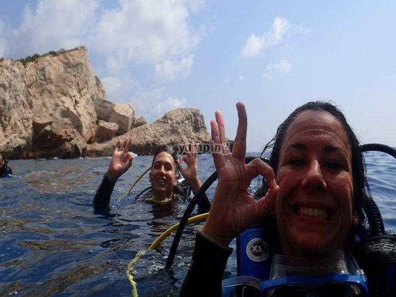第一次在贝尼多姆(Benidorm)潜水