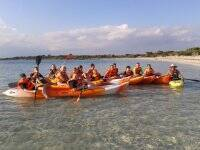 Double canoe rental 1/2 day Colonia Sant Jordi