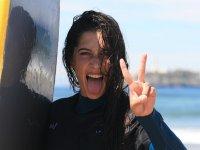 Feliz tras surfear