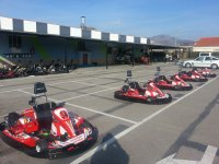 Karts on the circuit