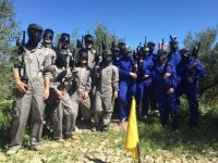 The two paintball teams