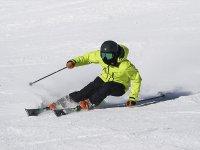 Disfrutando de una sesión de esquí