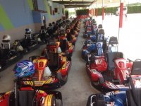 Karts in their parking area