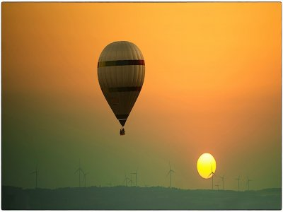 Nel pomeriggio volo in mongolfiera per gruppi ad Anoia