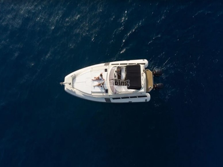 Ruta marítima en yate