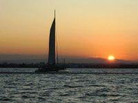 crepuscolo nel catamarano