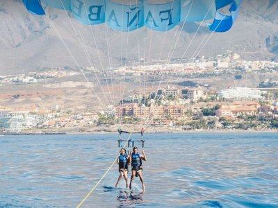 Parascending and jet ski activity in Tenerife