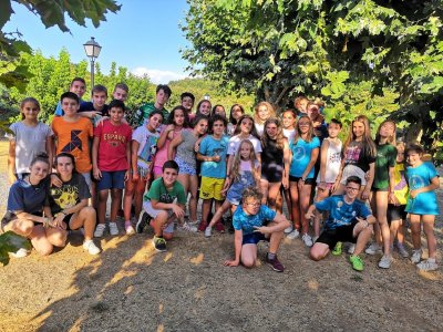 English camp in Pasarón de la Vera August