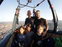 Volo in mongolfiera con bambini